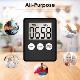 Pantalla Digital LCD súper delgada Temporizador de cocina cuadrado conteo de cocina cuenta atrás alarma cronómetro de sueño relo