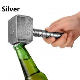Abridor de Botellas de Cerveza de Plata Jinjian Martillo Multifunción de Abrebotellas de Cerveza en Forma de Thor con Abridor de