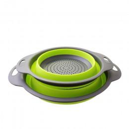 Colador de cesta de drenaje plegable colador de frutas y verduras colador de cesta escurridor plegable con asa herramientas de a