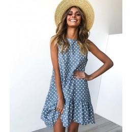 Vestido de punto de onda con volantes para mujer 2019 Primavera Verano nueva moda de calle Sexy Casual delgado para fiesta de pl