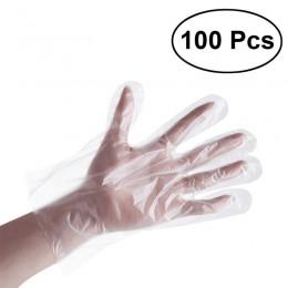 100 unids/pack guantes desechables de plástico PE guantes para casa cocina restaurante cocina médica Industrial limpieza