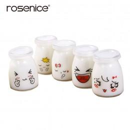 5 uds frasco de postre cara bonita frasco de gelatina de vidrio resistente al calor contenedores de yogur taza de leche para el
