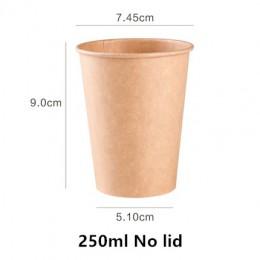 100 unids/pack Kraft de la taza de papel desechable de papel taza de café leche caliente beber de la taza de PAPEL DE CAFÉ Tiend