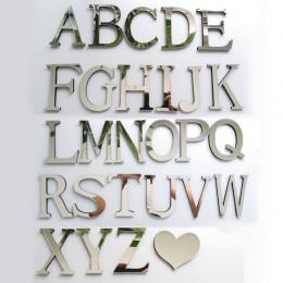Nuevo espejo acrílico 3D DIY pared pegatinas adhesivos letras en inglés decoración del hogar personalidad creativa especial