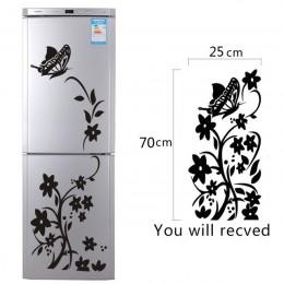 Etiqueta engomada creativa de alta calidad del refrigerador negro de la mariposa del patrón de las pegatinas de la pared de la c