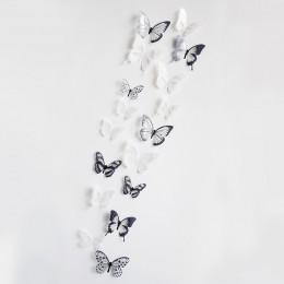 18 unids/lote 3d efecto cristal adhesivo para pared de mariposas hermosa mariposa para niños habitación calcomanías de pared dec