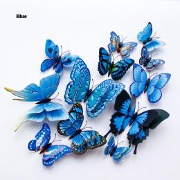 Nuevo estilo 12 pzs pegatina para la pared de mariposas 3D de doble capa, mariposas de decoración para el hogar para decoración,