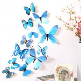 12 pzs pegatinas de pared de mariposas, pegatinas de pared, decoraciones para el hogar de Año Nuevo, papel tapiz de PVC de marip