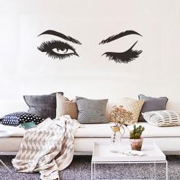 Pegatina de chicas para pared de pestañas bonita creativa decoraciones de sala de estar para el hogar papel pintado Mural calcom