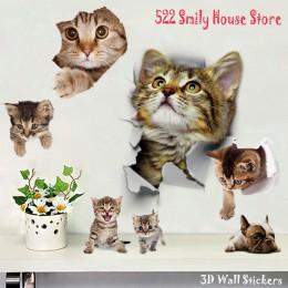 1 unid 3D Cute Cat calcomanías adhesivas de pared de la familia pegatinas de ventana de la habitación decoraciones de baño asien