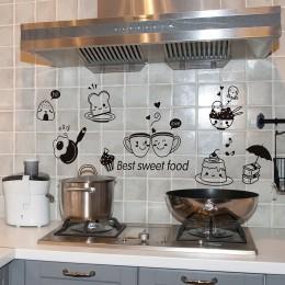 Pegatinas de pared para cocina café dulce comida DIY pared arte calcomanía decoración horno comedor paredes papel PVC pared calc