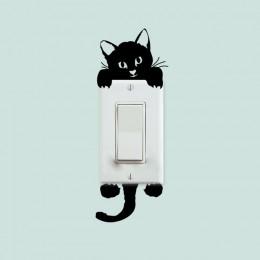 DIY gatito gracioso y mono pegatinas perro interruptor pegatinas de pared decoración del hogar Decoración de salón y dormitorio