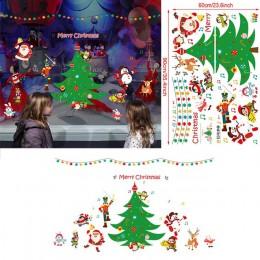 2020 Feliz Navidad pared pegatinas ventana vidrio Festival pared calcomanías Santa murales Año Nuevo Navidad decoraciones para l