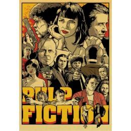 Clásico película Fight Club/Pulp Fiction/brillante/Kill Bill póster clásico pegatinas de pared para la decoración del hogar de l