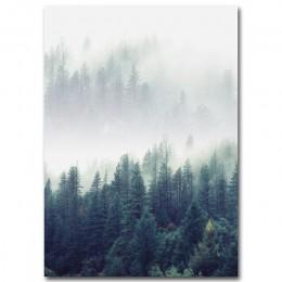 Decoración nórdica bosque paisaje pared arte lienzo póster e impresión lienzo cuadro de pintura decorativa para la decoración de