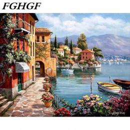 Pintura de paisaje por números figura de Animal colorear por números imágenes decoración del hogar pintura al óleo pintura acríl