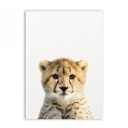 León cebra elefante jirafa bebé animales arte imprimir cartel, animales de Safari cuadro lienzo pintura niños habitación decorac
