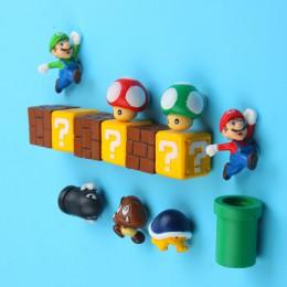 10 Uds 3D Super Mario Bros imanes de frigorífico imán etiqueta para mensaje hombre adulto niña niño niños juguete regalo de cump