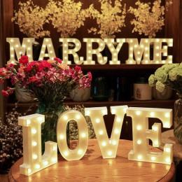Letras del alfabeto luces LED marquesina signo número lámpara decoración noche luz para fiesta dormitorio boda cumpleaños Navida