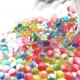3000 unidad/bolsa en forma de perla hidrogel cuentas de agua de suelo Bio Gel barro crecer bolas de gelatina mágica oriz para la