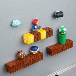 63 Uds 3D Super Mario imanes de resina para frigorífico juguetes para niños casa decoración adornos figuras pared Mario imán de