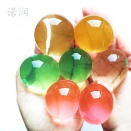 50 Uds. 30-50mm perla en forma de suelo de cristal suave hacer crecer la bola mágica de gelatina hidrogel perlas de agua planta