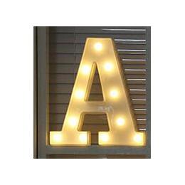 Letra luminosa noche Led luz creativa 26 alfabeto inglés Número Led lámpara batería romántica boda fiesta decoración Envío Direc