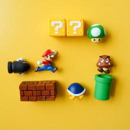 10 Uds 3D de Super Mario Bros Imanes de frigorífico etiqueta para mensaje divertido niñas niños estudiante juguetes regalo de cu