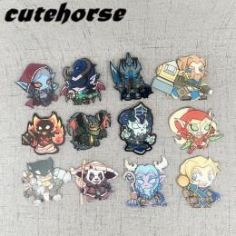 Imanes de nevera de alta calidad acrílicos de dibujos animados de la serie de Hearthstone imanes de nevera World of Warcraft
