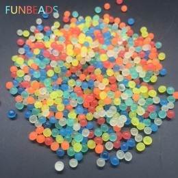 50 g/lote Funbeads 3-3,5mm de brillando en la oscuridad suelo de cristal, barro perlas de agua creciente de agua bola decoración