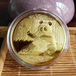 Monedas Panda grande Baobao China colección conmemorativa arte regalo negro y blanco oso lindo oro plata color