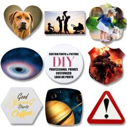 1 Uds. De varias formas Personal imán personalizado para heladera de su familia foto individuación DIY vidrio magnético refriger