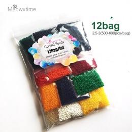 12 bolsas/lote forma de perla-3mm-2,5mm suelo de cristal, barro creciente bombillas de hidrogel Gel creciente bolas de Gel agua