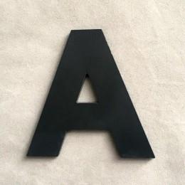 """9 cm/3,54 """"PVC negro letras superiores en inglés pared Interior jardín boda letras decorativas respetuosas con el medio ambiente"""