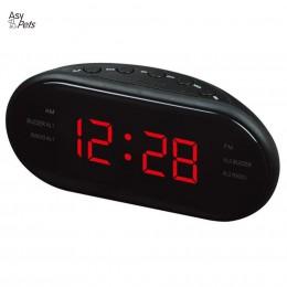 Nuevo reloj LED AM/FM moderno de moda AsyPets Radio reloj despertador de escritorio electrónico relojes de mesa Digital Función