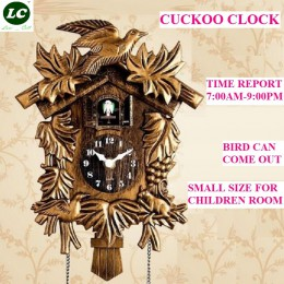 Reloj de cuco sala de estar Reloj de pared pájaro Cuco reloj despertador reloj moderno breve niños unicornio decoraciones hogar