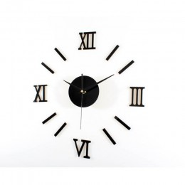 Reloj de números para pared Digital Roma diy 3d espejo silencioso acrílico breve Quieten DIY Reloj de pared diseño moderno al po