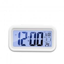 Reloj despertador Digital pantalla LCD de datos de tiempo FUNCIÓN DE Snooze Sensor de luz de fondo electrónico luz nocturna mesa