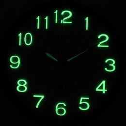 DIY Reloj de pared de cuarzo brillan en la oscuridad material seguro luminova reloj de pared adornos para casa reloj mural decor