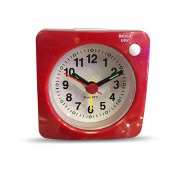 Gran oferta, pequeño reloj despertador, buscapersonas, alarma, barrido silencioso con luz nocturna y despertador, relojes portát