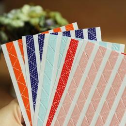 390 unids/lote (5 hojas) DIY encaje color sólido opaco papel para esquinas pegatinas para álbumes de fotos álbum de recortes par