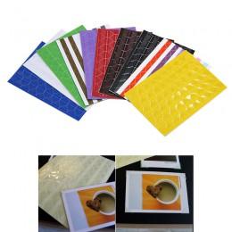102 Uds./hoja nuevas pegatinas de PVC DIY esquina colorida álbum de recortes papel foto Marco de álbumes decoración de la imagen