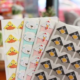 96 unids/lote 4 hojas DIY lindos animales de colores pegatinas de papel para esquinas para álbum de fotos álbum de recortes de t