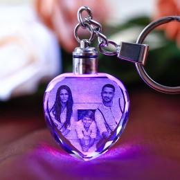 MARCO DE BODA LED fotos álbum de fotos cristal colorido llavero personalizado foto familia memoria registro bebé foto llavero