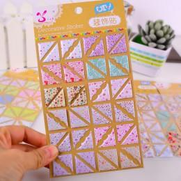 48 Uds./hoja de esquinas con patrón Floral para foto PVC papel foto pegatinas para álbum 3D Scrapbooking boda foto álbum foto ti