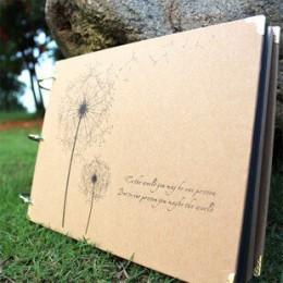 10 pulgadas DIY Album Dandelion Series DIY albúm DIY álbumes de fotos hechos a mano para amante bebé boda pegatinas Scrapbooking