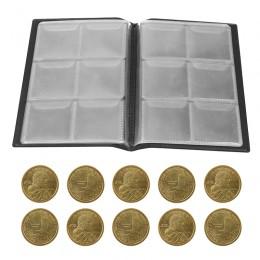 60 bolsillos soportes de monedas para coleccionar álbum almacenamiento de monedas suministros para libros soporte de moneda para