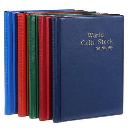 Popular estilo de moda 120 aberturas soportes de monedas álbum libro organizador de dinero bolsas de almacenamiento lindo colore