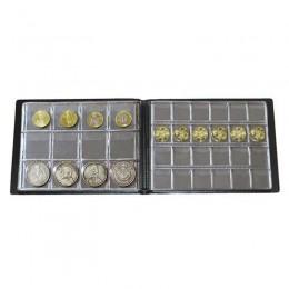 Colección de monedas de 180 álbum de PVC, colección de libros, coleccionismo de monedas, almacenamiento de monedas, porta, decor