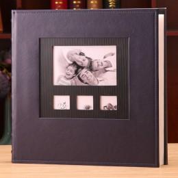 Álbum de fotos cubierta de cuero 6 pulgadas Foto plástico 6 pulgadas 600 bolsillo de cuero de gran capacidad familia niños bebé